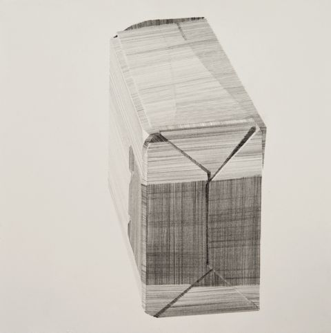 Package (iv), pencil on paper, 19 x 19cm