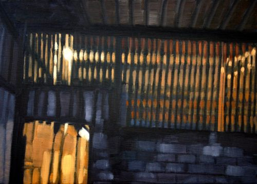 Lights On (ii), oil on canvas