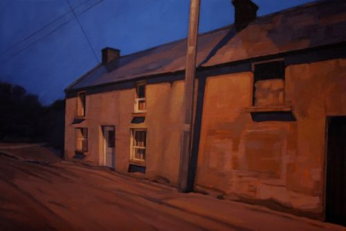 Night Light - Rathdangan, oil on canvas