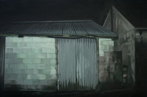 Out House - Glen of Imaal oil on canvas