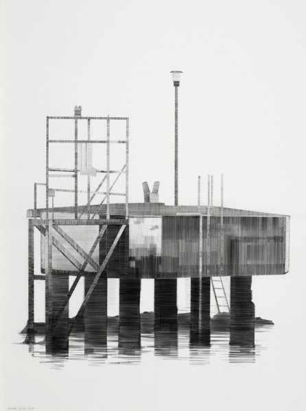 Port Structure pencil on paper 56 x 76cm
