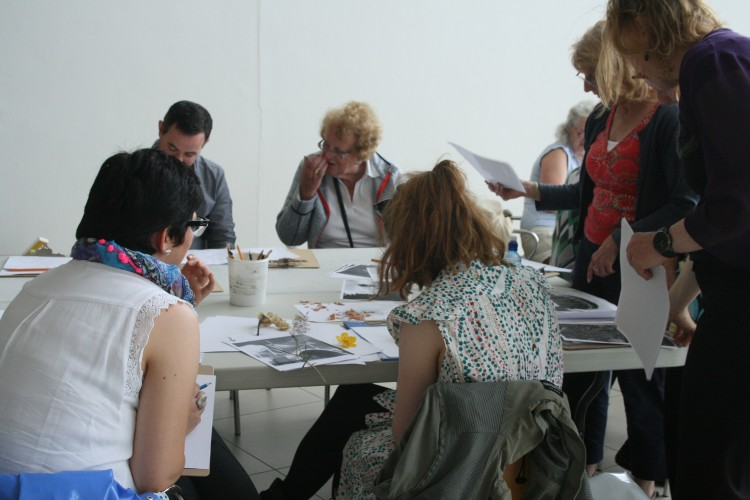 Drawing workshop participants