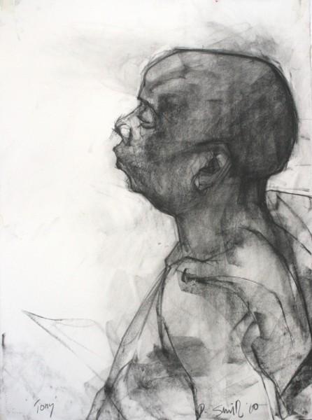 Tony charcoal on paper 56 x 76cm
