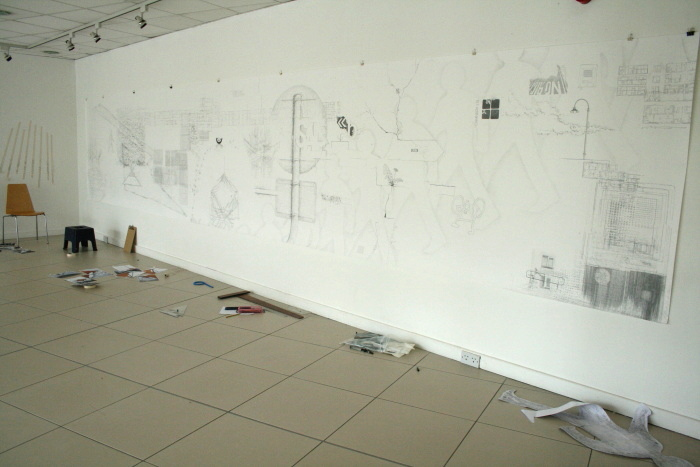 Work in progress - gallery as open studio