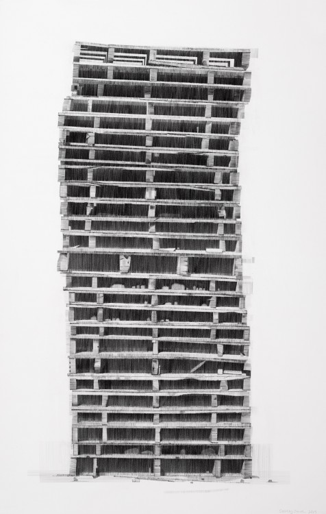 High Rise, pencil on paper, 64 x 102cm