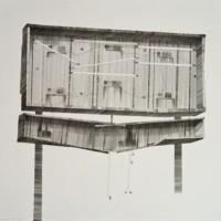 Modern World, pencil on paper, 38.5 x 38.5cm