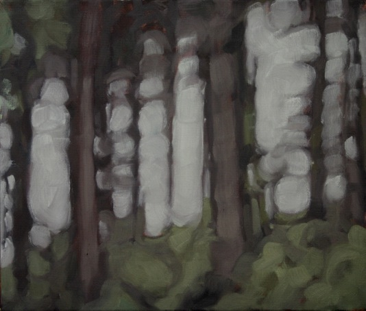 Forestry at Kilranelagh (i), oil on canvas