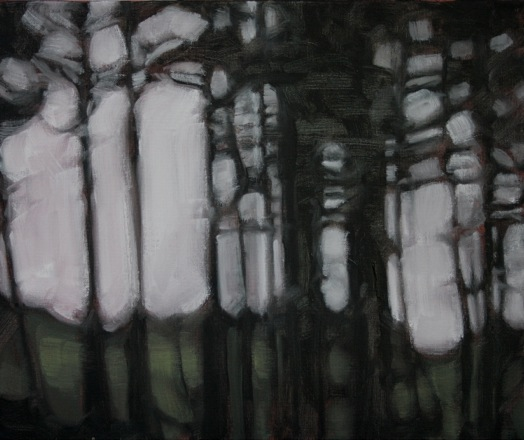 Forestry at Kilranelagh (ii), oil on canvas