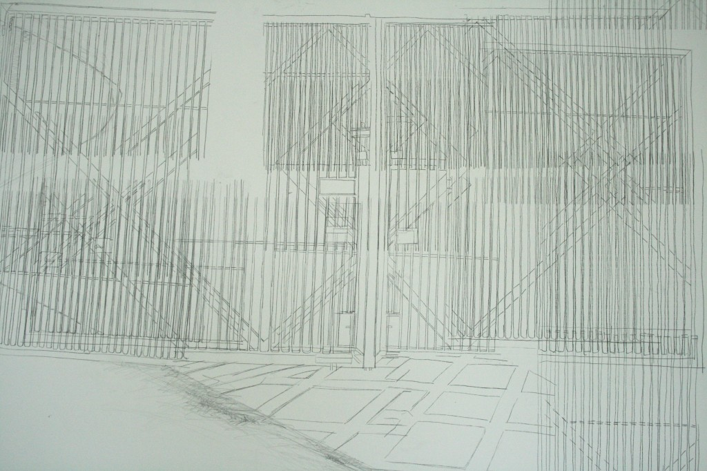 Detail with drawing by Dorothy Smith