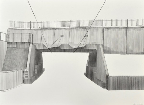 Interconnection pencil on paper 760 x 560