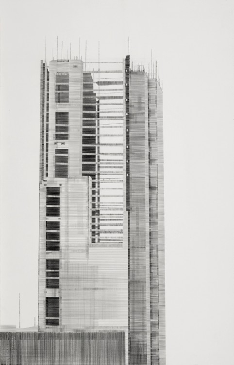Capital - More is Easy pencil on paper 64 x 102