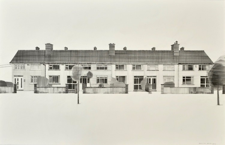 'The Gardens' pencil on paper 102 x 64cm