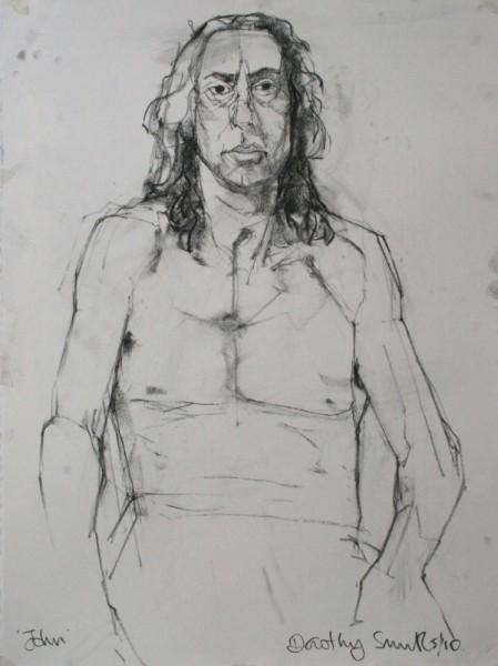 John charcoal on paper 56 x 76cm