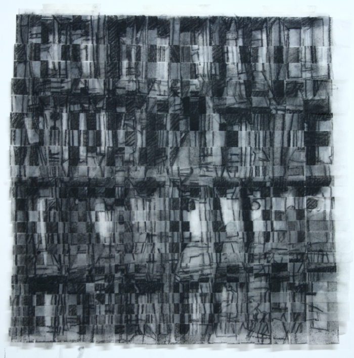 City Drawing (grid) charcoal on paper 41 x 41cm