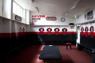 Changing Room, Dalymount Park, photo Dorothy Smith